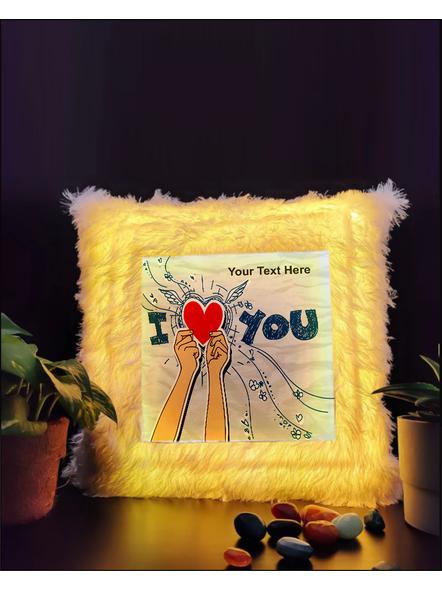 I Love You Personalized LED Cushion-LEDCUSWOR007A