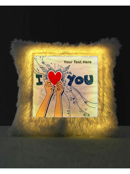 I Love You Personalized LED Cushion-1