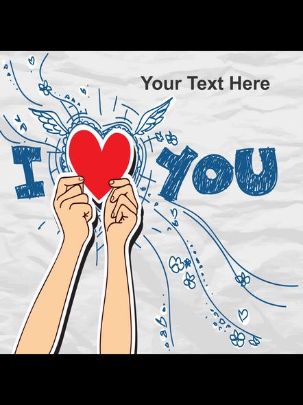 I Love You Personalized LED Cushion-2