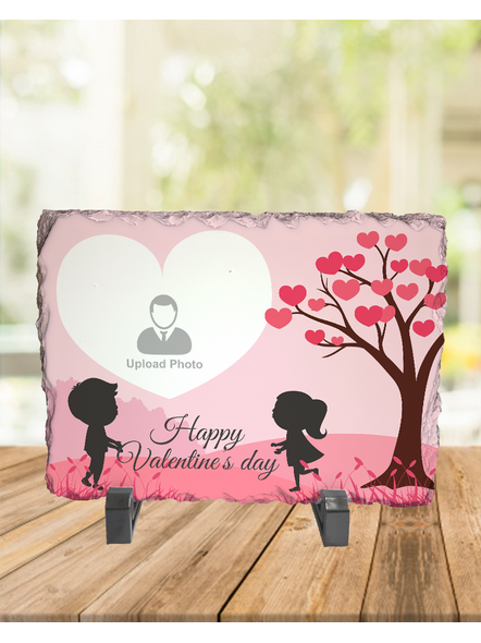 Valentine Cute Couple Personalized Rectangle Rock Stone-RCTFOTO0002A