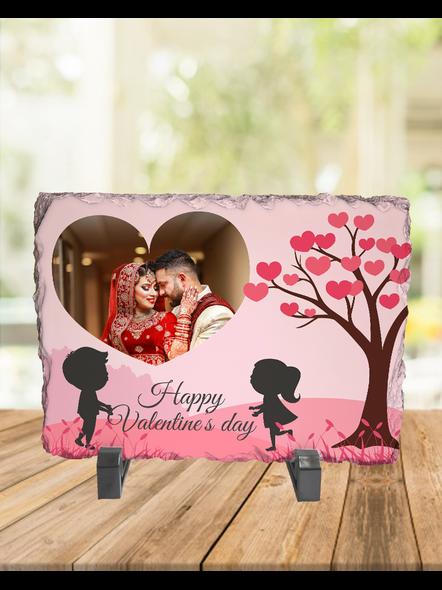 Valentine Cute Couple Personalized Rectangle Rock Stone-1