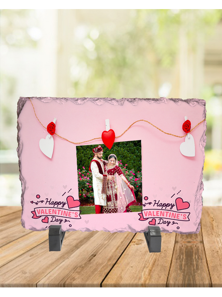 Elegent Happy Valentines day Personalized Rectangle Rock Stone-RCTFOTO0004A