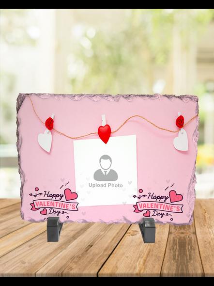 Elegent Happy Valentines day Personalized Rectangle Rock Stone-1