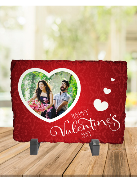 Happy Valentines Day Personalized Rectangle Rock Stone-RCTFOTO0005A