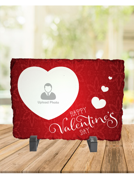 Happy Valentines Day Personalized Rectangle Rock Stone-1