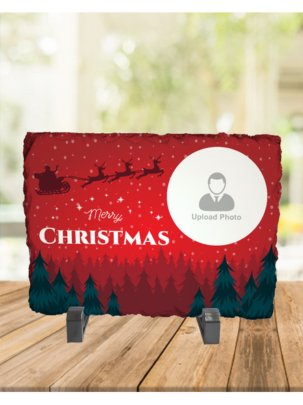 Senta Flying Merry Christmas Personalized Rectangle Rock Stone-1