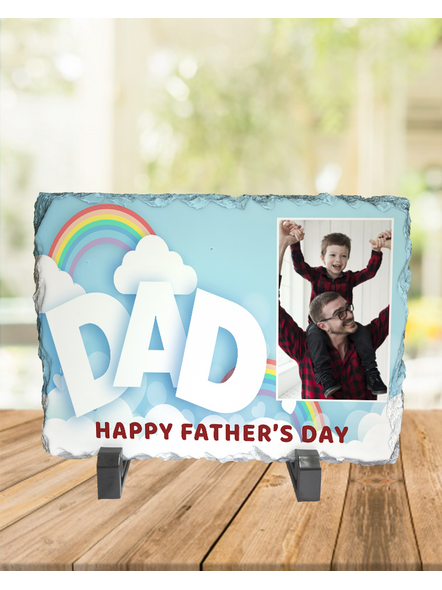 Designer DAD Personalized Photo Rectangle Rock Stone-RCTFOTO0012A