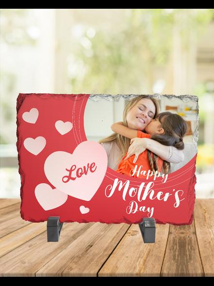 Loving MOM Heart Touching Rectangle Photo Rock Stone-RCTFOTO0018A