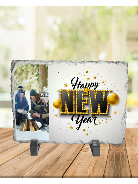 Happy New Year elegent Themed Rectangle Rock Stone-RCTFOTO0025A