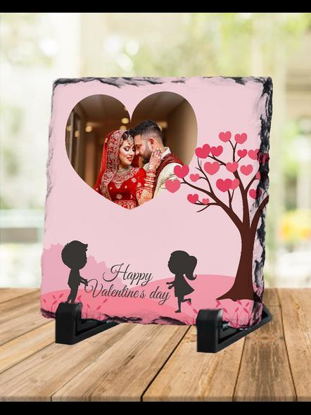 Valentine Cute Couple Personalized Square Rock Stone-SQRFOTOR0002A