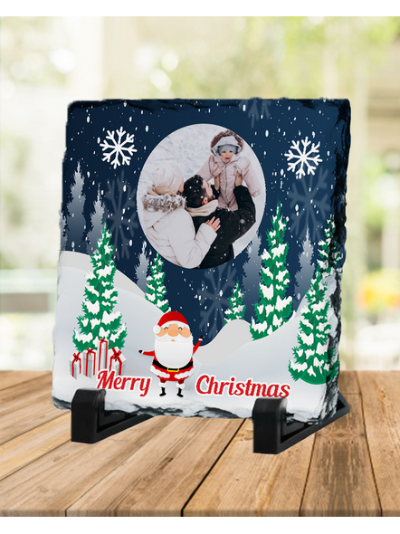 Personalized Christmas with Senta Square Rock Stone-SQRFOTOR0008A