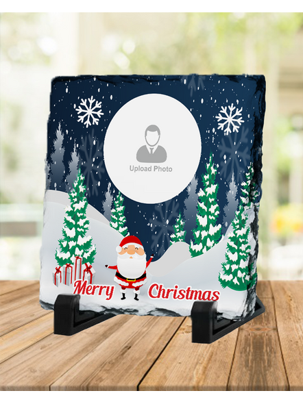 Personalized Christmas with Senta Square Rock Stone-1