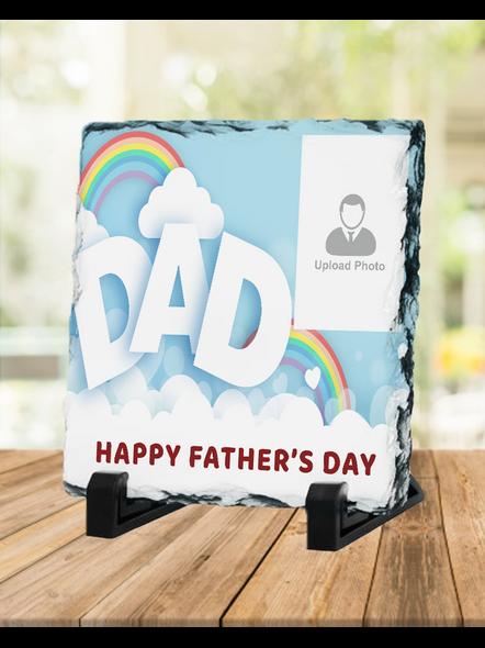 Designer DAD Personalized Photo Square Rock Stone-1