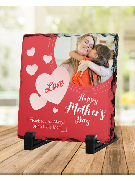Loving MOM Heart Touching Square Photo Rock Stone-SQRFOTOR0018A