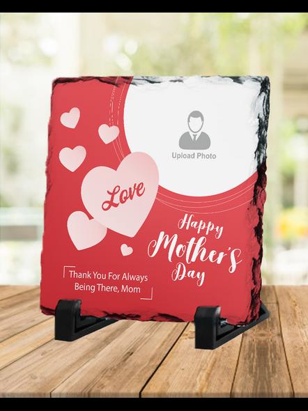 Loving MOM Heart Touching Square Photo Rock Stone-1