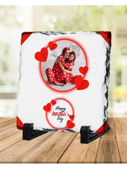 Heart Themed Loving MOM Square Photo Rock-SQRFOTOR0020A
