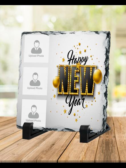 Happy New Year elegent Themed Square Rock Stone-1