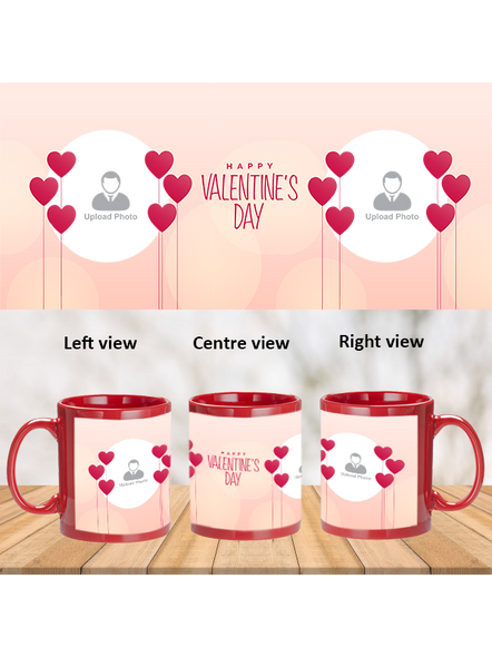 Elegant Valentines Day Personalized Red Patch Mug-PRM0007A