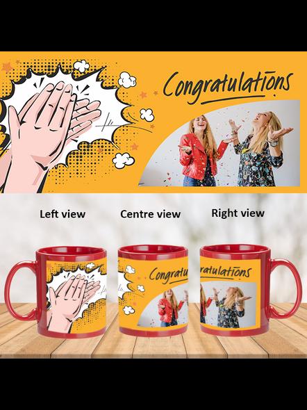 Clapping Congratulations Designer Red Patch Mug-1