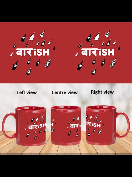 Baarish Designer Printed Red Patch Mug-PRM0016A