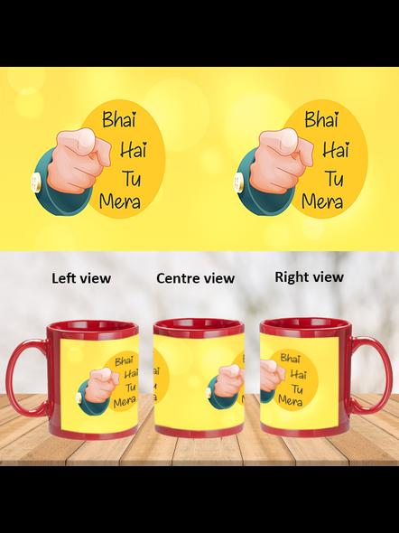 Bhai hai tu Mera Printed Red Patch Mug-PRM0017A