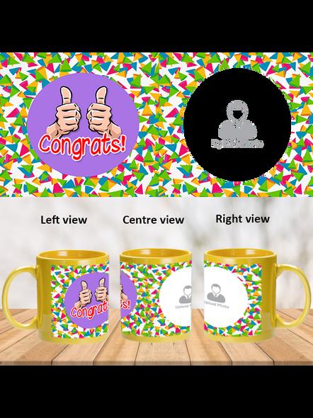 Thumbs up Designer Yellow Patch Mug-PYM0010A