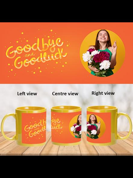 Good Bye Good Luck Personalized Yellow Patch Mug-1