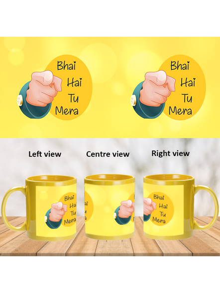 Bhai hai tu Mera Printed Yellow Patch Mug-PYM0013A