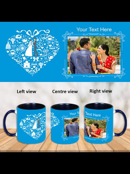Wedding Couple Blue Inner Color Mug-Blue-1