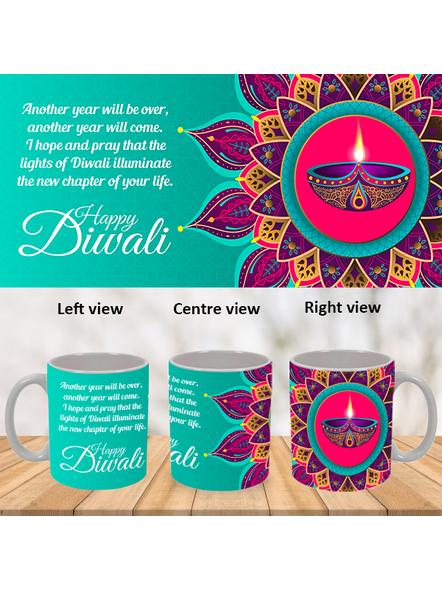 Diwali Designer Theme Special White Mug-WM0073A