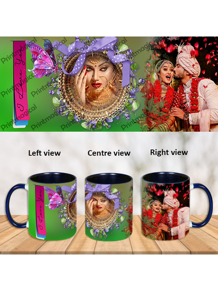 Personalized Traditional Looking Blue Inner Color Mug-ICBM0019A
