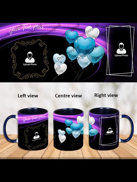 Customized Balloon Themed Inner Color Blue Mug-Blue-1