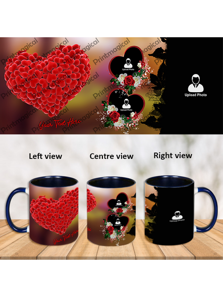 Personalized Heart Touching Theme Blue Inner Color Mug-Blue-1