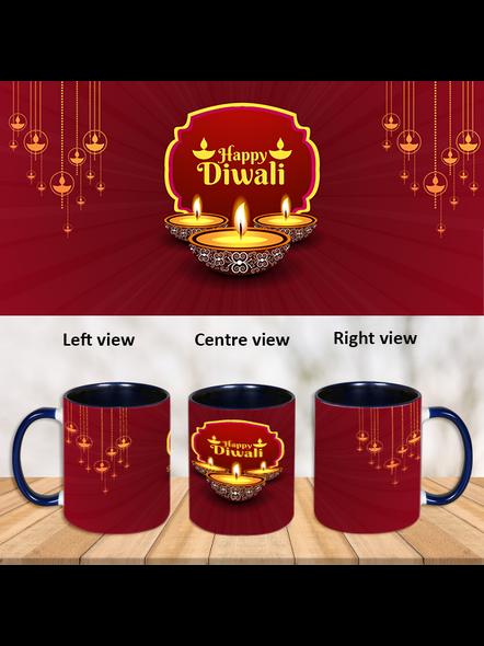 Special Wishes Diwali Inner Color Blue Mug-ICBM0032A