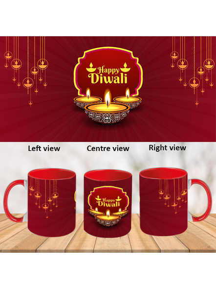 Special Wishes Diwali Inner Color Red Mug-ICRM0038A