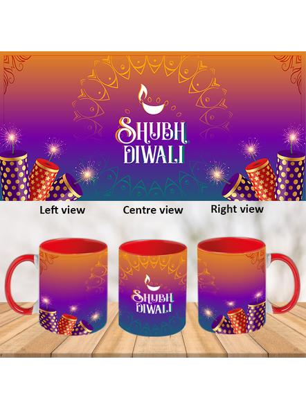 Shubh Diwali Crackers Theme Inner Color Red Mug-ICRM0041A