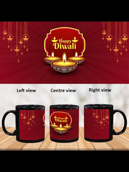 Special Wishes Diwali Black Patch Mug-PBM0039A