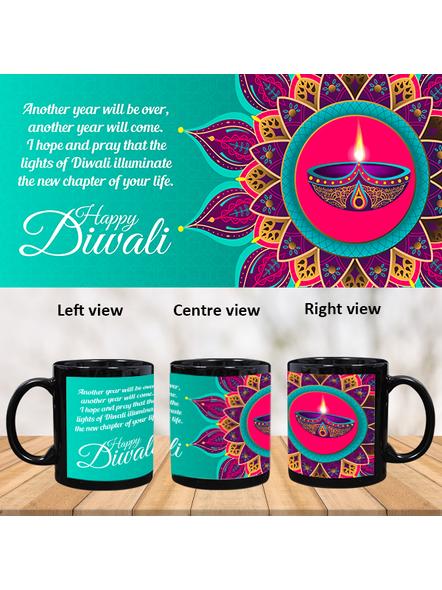Diwali Designer Theme Black Patch Mug-PBM0046A