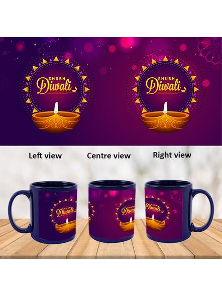 Diwali Diyas Blue Patch Mug-PBLM0035A
