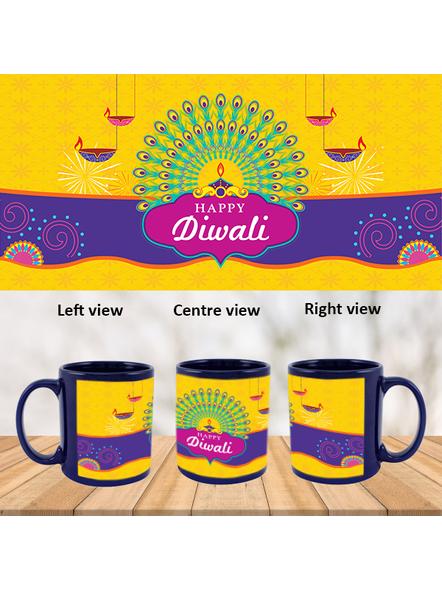 Diwali Lights Blue Patch Mug-PBLM0036A