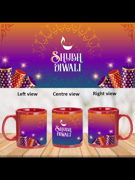Shubh Diwali Crackers Theme Pink Patch Mug-PRM0039A