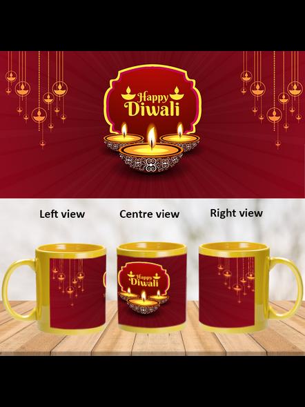 Special Wishes Diwali Yellow Patch Mug-PYM0030A