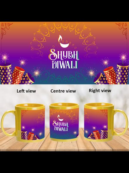 Shubh Diwali Crackers Yellow Patch Mug-PYM0034A