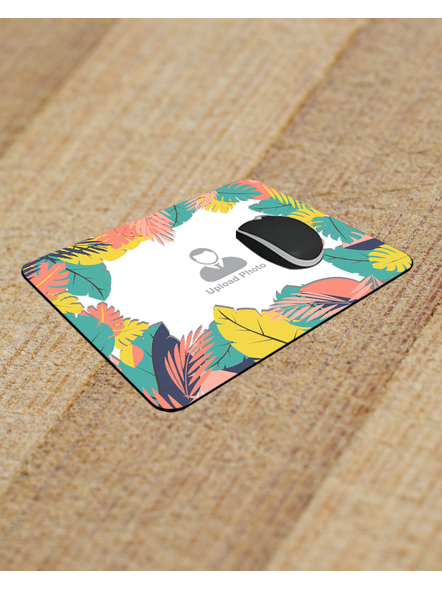 Designer Leaves Personalized Rectangle Mouse Pad-RECTANGLEMP0009A