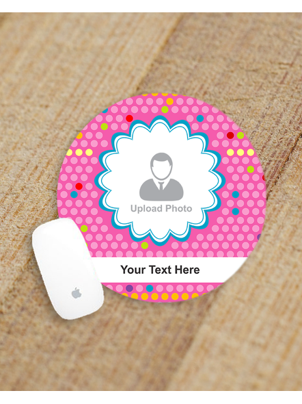 Designer Leaves Personalized Round Mouse Pad-ROUNDMP0009A