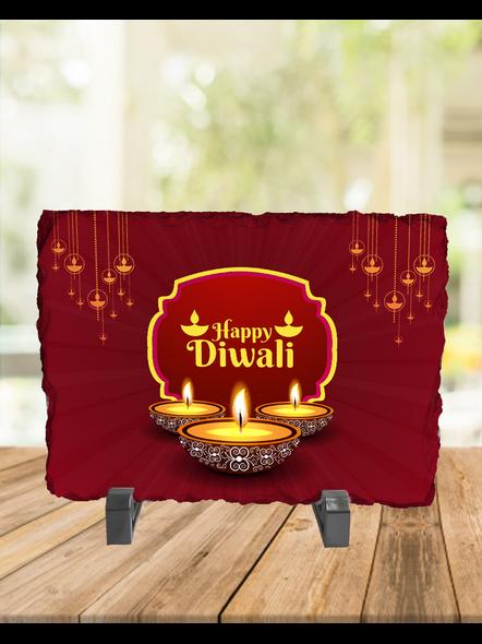 Diwali Diyas Celecrations Rectangle Rock Stone-RCTFOTO0026A