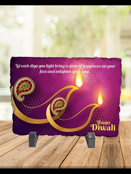 Diwali Designer Lights Rectangle Photo Rock Stone-RCTFOTO0028A