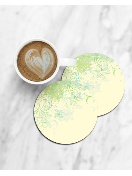 Natural Pattern Printed Round Coaster-CCOSTER0005