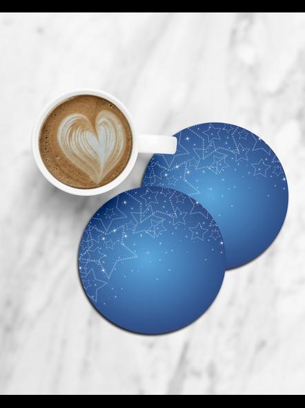 Shining Stars Printed Designer Round Coasters-CCOSTER0015