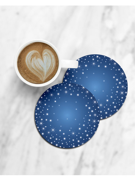 Sky Stars Printed Round Coasters-CCOSTER0016
